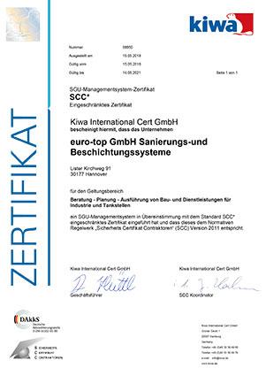 SCC certificate